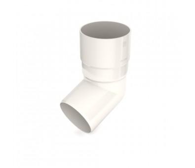 Alkūnė lietvamzdžiui 90 mm / 65,7° plastikinė balta BRYZA