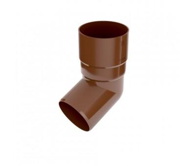 Alkūnė lietvamzdžiui 90 mm / 65,7° plastikinė ruda BRYZA
