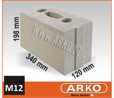 ARKO silikatinis – mūro blokelis M12