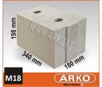 ARKO silikatinis – mūro blokelis M18