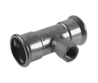Plieninis cinkuotas presuojamas trišakis vidiniu sriegiu 15 x 1/2'' x 15 mm