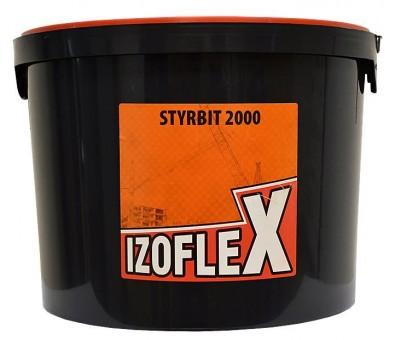 Klijai – dispersinė bituminė – kaučiukinė masė STYRBIT 2000 IZOFLEX, 10 l