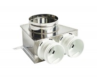 Difuzoriaus dėžė lanksčiam ortakiui 75 mm, 2 žiedų, REC Balticvent