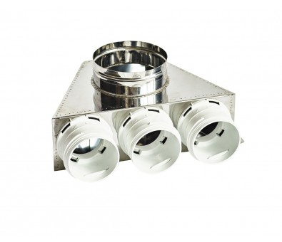 Difuzoriaus dėžė lanksčiam ortakiui 75 mm, 3 žiedų, REC Balticvent