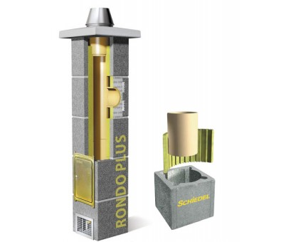 Kaminas SCHIEDEL Rondo Plus be ventiliacijos 140 mm, H – 10,33 m