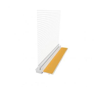 PVC deformacinis 108 profilis 8 x 2400 mm su tinkleliu EJOT