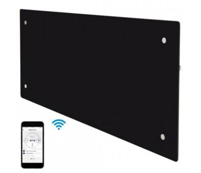 Elektrinis radiatorius stikliniu paviršiumi Adax CLEA H 04 KWT WiFi Black, 400 W