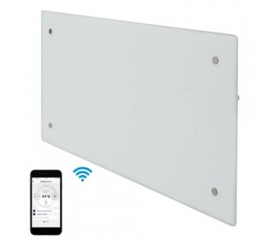 Elektrinis radiatorius stikliniu paviršiumi Adax CLEA H 04 KWT WiFi White, 400 W