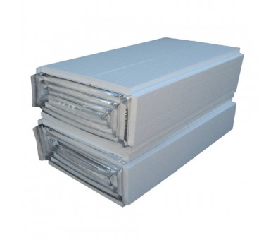 Polistireninis putplastis šildomoms grindims su aliuminio folija 25mm