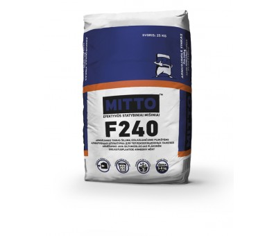 Elastingas armavimo mišinys su sintetiniu plaušu MITTO F240 25 kg