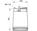 Fekalinis - nuotekų siurblys Unilift AP12.40.06.A1, 10 m GRUNDFOS