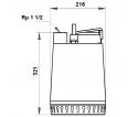 Fekalinis - nuotekų siurblys Unilift AP12.40.06.3 3 x 400 V, 10 m GRUNDFOS
