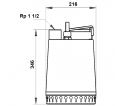 Fekalinis - nuotekų siurblys Unilift AP12.40.08.3 3 x 400 V, 10 m GRUNDFOS