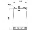 Fekalinis - nuotekų siurblys Unilift AP12.50.11.3 3 x 400V, 10 m GRUNDFOS