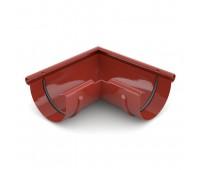 Kampas latakui išorinis 125 mm / 90° plastikinis raudonas BRYZA