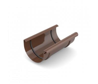 Jungtis latakui 125 mm plastikinė ruda BRYZA