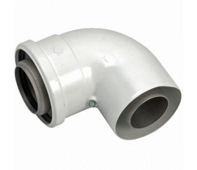 Kamino alkūnė 60 / 100 mm, 90' kondensaciniam katilui BAXI