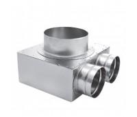 Difuzoriaus dėžė lanksčiam ortakiui 75 mm, 2 žiedų