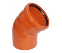 Lauko kanalizacijos alkūnė 200 / 45° (Magnaplast, WAVIN)
