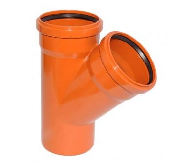 Lauko kanalizacijos trišakis 160 x 160 x 160 / 45° (Magnaplast, WAVIN)