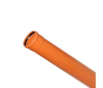 Lauko kanalizacijos vamzdis 110 / 1000 mm (Magnaplast, WAVIN)