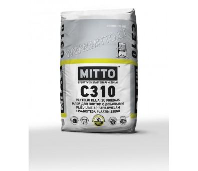 Elastingi plytelių klijai su priedais MITTO C310 25 kg