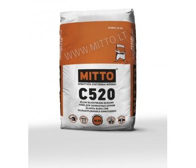Klijai silikatiniams blokams MITTO C520 25 kg
