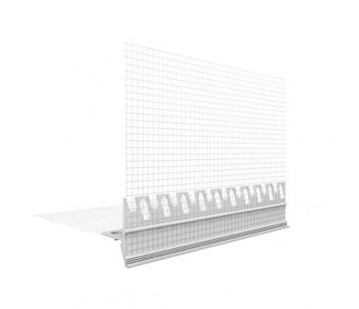 PVC nulašėjimo profilis 120 x 2000 mm su tinkleliu EJOT
