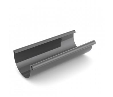 Latakas 125 / 3000 mm plastikinis grafito spalvos BRYZA