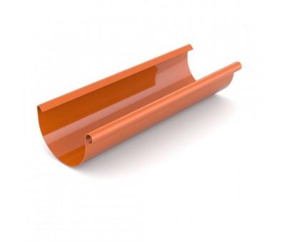 Latakas 125 / 3000 mm plastikinis molio spalvos BRYZA