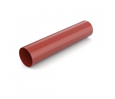 Lietvamzdis 90 / 3000 mm plastikinis raudonas BRYZA