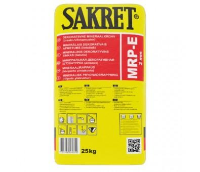 "Mineralinis dekoratyvinis tinkas Sakret MRP-E ""lietutis"" 25 kg, 2 mm"