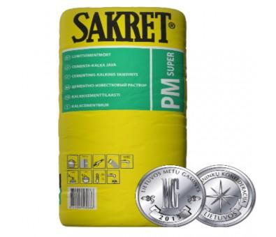 Kalkinis cementinis mūro-tinko mišinys Sakret PM Super 40 kg