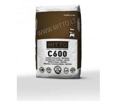 Grindų paklotas / sausas betonas MITTO C600 25 kg