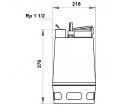 Fekalinis - nuotekų siurblys Unilift AP35.40.06.1V, 10 m GRUNDFOS