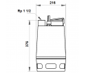 Fekalinis - nuotekų siurblys Unilift AP35.40.06.3V, 3 x 400 V, 10 m GRUNDFOS