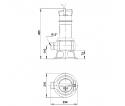 Fekalinis - nuotekų siurblys Unilift AP35B.50.06.3V, 3 x 400 V, 10 m GRUNDFOS