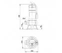 Fekalinis - nuotekų siurblys Unilift AP35B.50.06.A1V, 10 m GRUNDFOS
