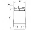 Fekalinis - nuotekų siurblys Unilift AP50.50.08.1V, 10 m GRUNDFOS