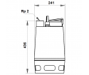 Fekalinis - nuotekų siurblys Unilift AP50.50.08.A1V, 10 m GRUNDFOS
