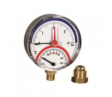 Termomanometras vertikalus 80 mm, 0 – 6 bar WATTS