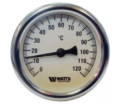 Bimetalinis termometras 63 mm (gilzė 100 mm) WATTS