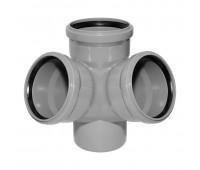 Vidaus kanalizacijos keturšakis 110 x 110 / 67° erdvinis, HTplus Magnaplast