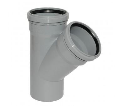 Vidaus kanalizacijos trišakis 110 x 110 x 110 / 45°, HTplus Magnaplast