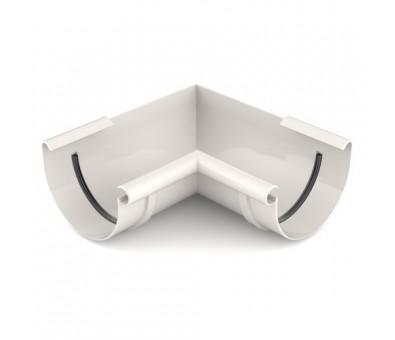 Kampas latakui vidinis 125 mm / 90° plastikinis baltas BRYZA