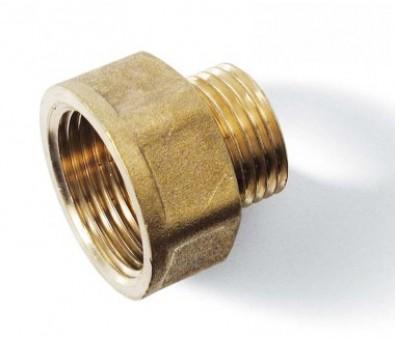 Žalvarinė jungtis redukuota išorė / vidus 15 x 25 mm
