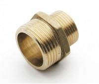 Žalvarinis nipelis išoriniu sriegiu redukuotas 15 x 20 mm